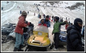 Tourists at Manali - Himachal Pradesh