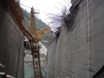 Damaged Crane at Chamera III Dam site