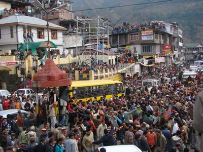 Celebrations mark BJP win in Rohru