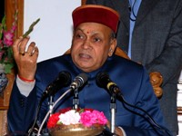 Chief minister Dhumal interacting with the media after returning from Israel