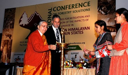 Chief secretary Asha Swaroop inaugurating the National Conference on Forestry Solutions