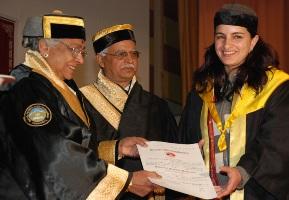 Governor Prabha Rau conferring degrees