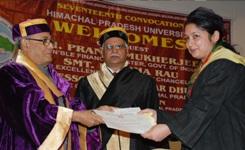 Mukherjee handing out merit certificat and medals