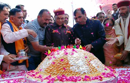 A birthday bash for chief minister Dhumal