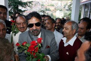 Anand Sharma on arrival at Shimla