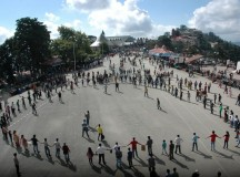 Shimla Children Protest By Playing Cricket On The Ridge