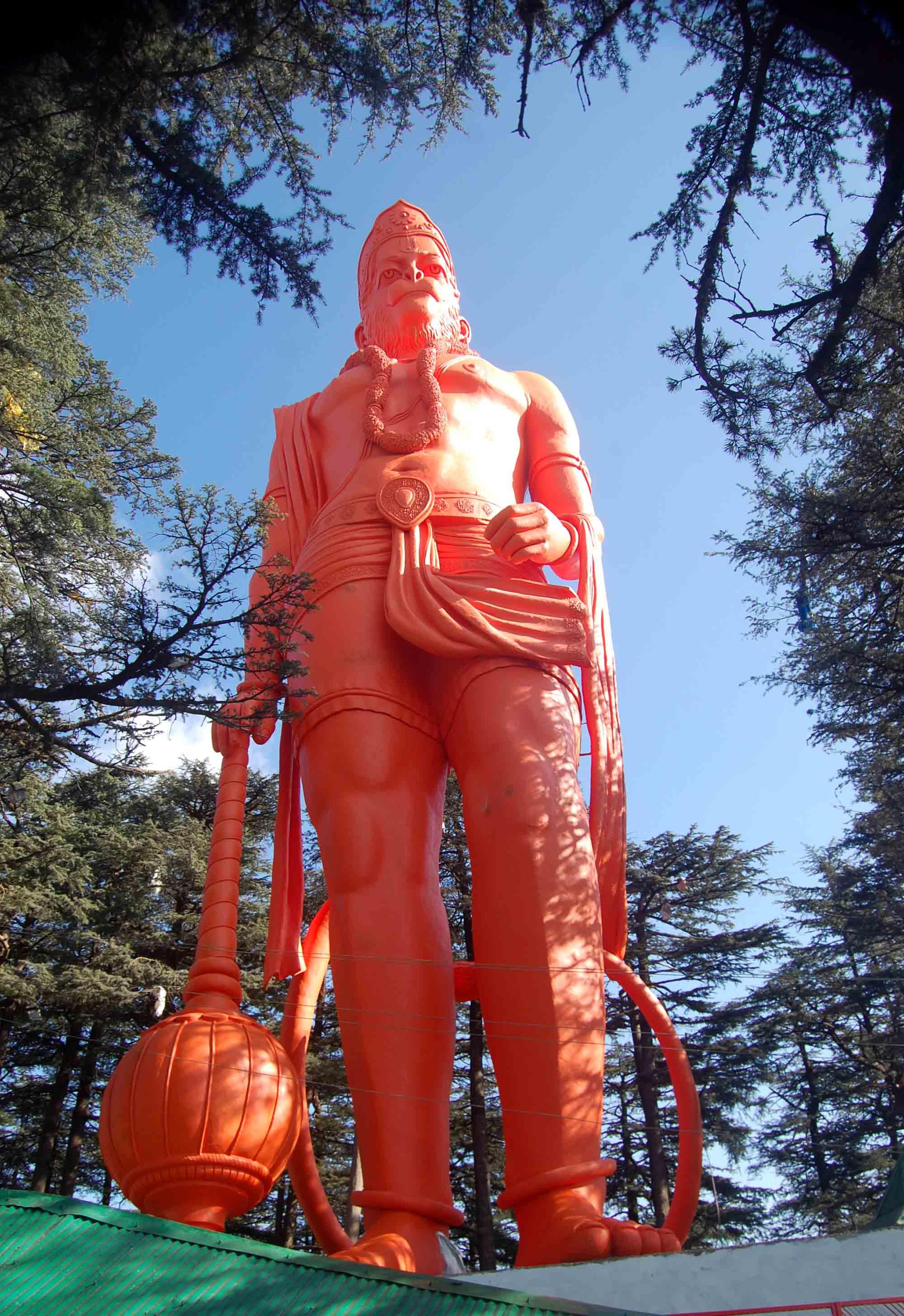 hanuman idol inshimla inaugrated by abhishek bacchan