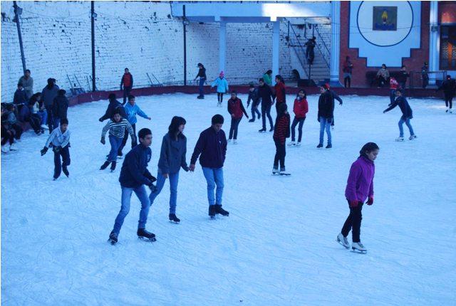 Image result for Ice Skating in himachal pradesh