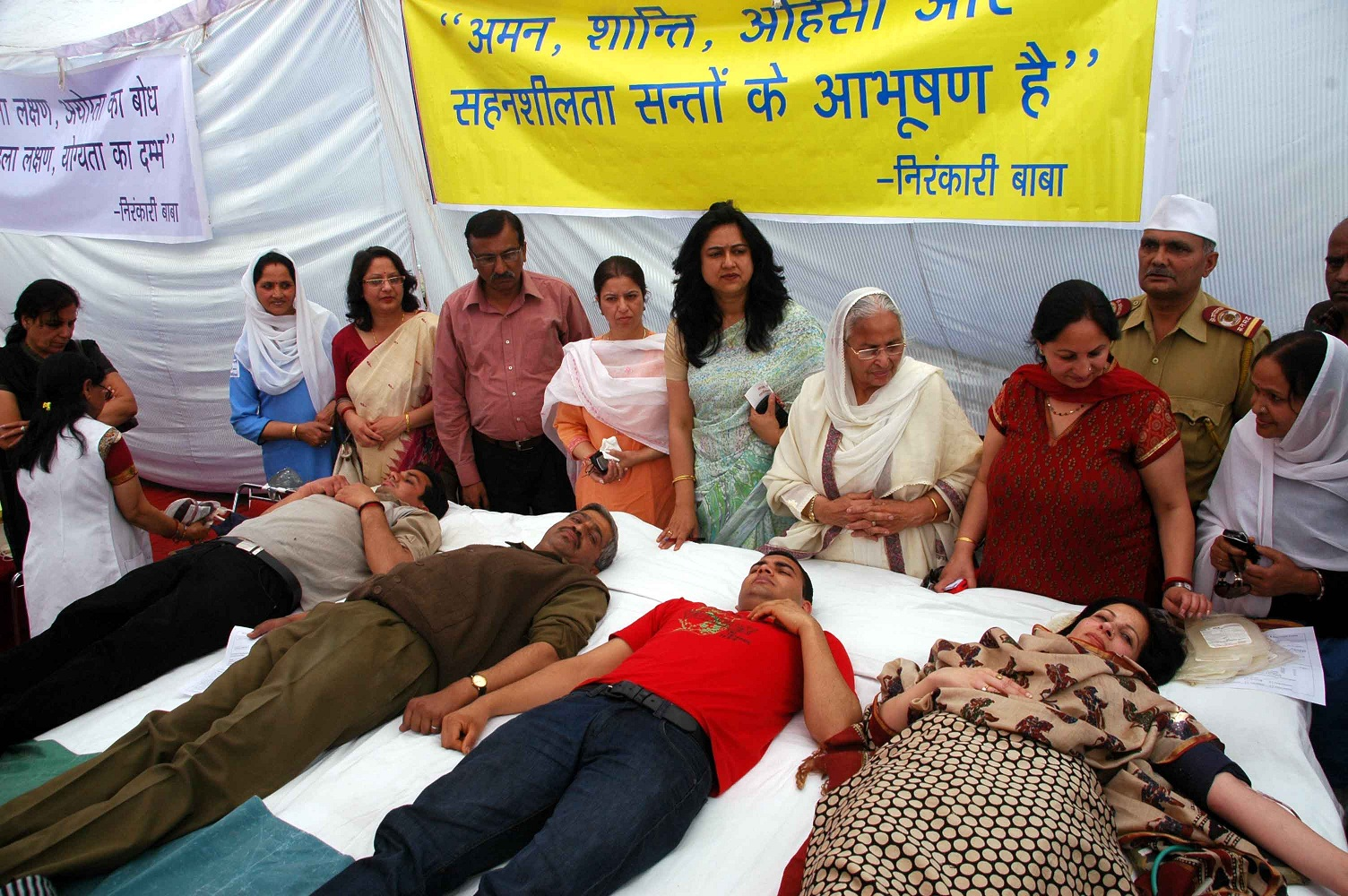 n kari mission in himachal donates units of blood hill post blood donors during blood donation camp