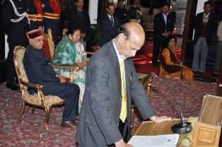 Bhim-sen-taking-oath