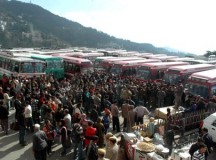 Flash strike at Shimla bus stand