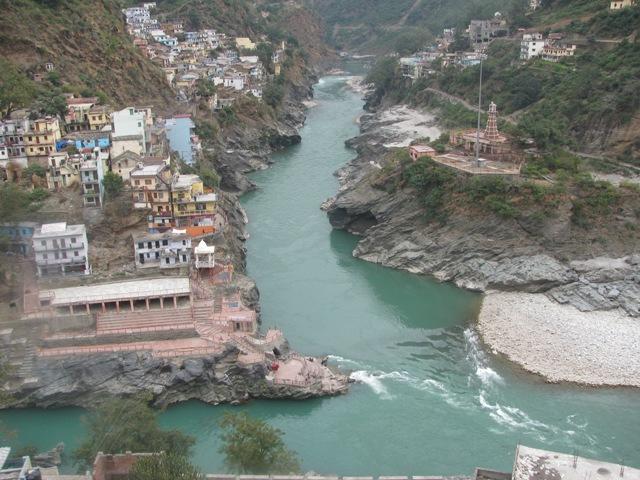 Alaknanda-Bhagirathi sagam on Ganga
