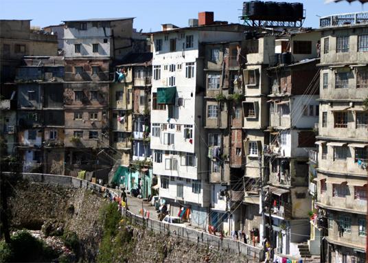 Dangerous multi storyed buildings in Mussorie