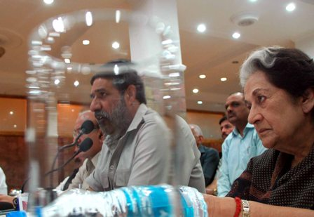 Commerce minister Anand Sharma interacting with media in Shimla