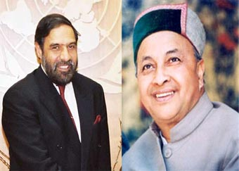 Anand Sharma and Virbhadra Singh - Himachal Pradesh Congress Leaders
