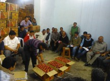 Apple auction underway at Shimla (Dhalli) market