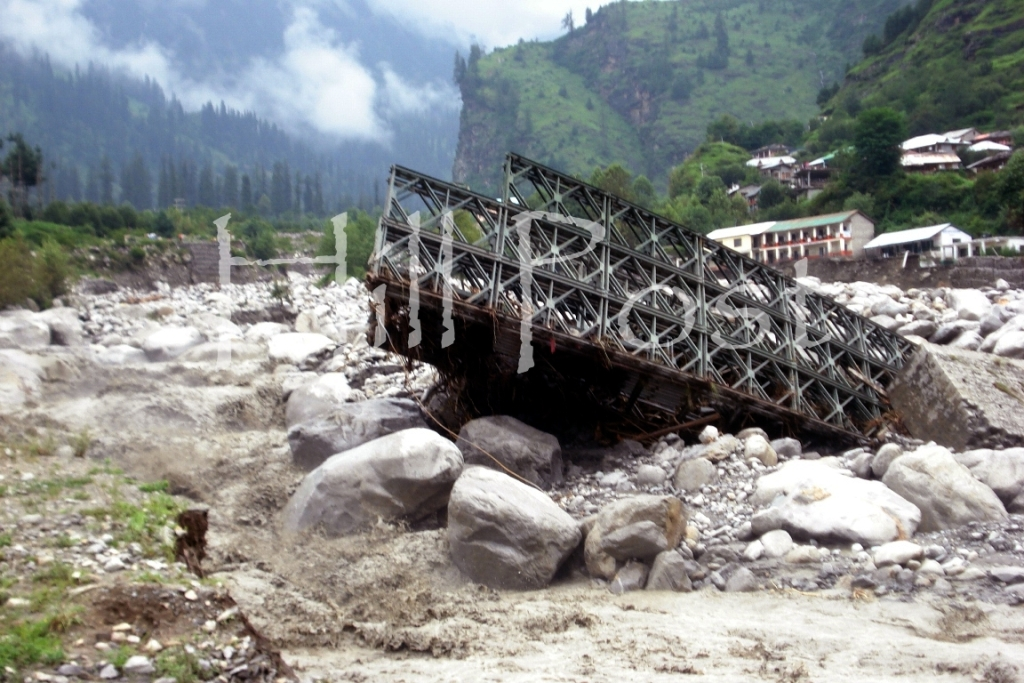 Manali Cloud Burst Bridge Collapse