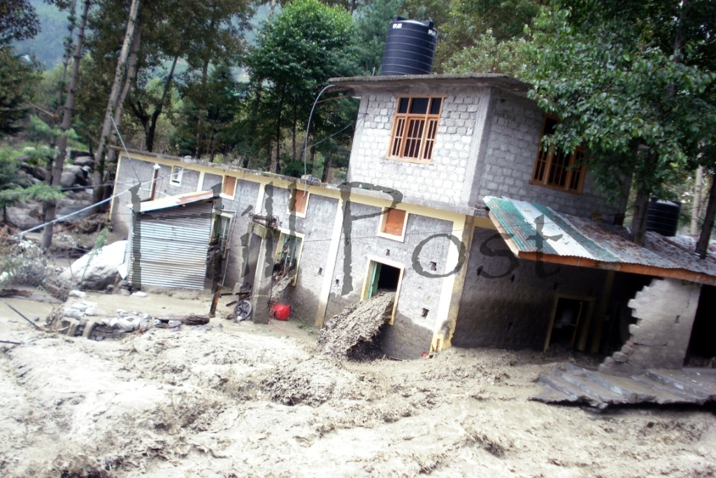 Manali Cloud Burst - Flash Flood Damage
