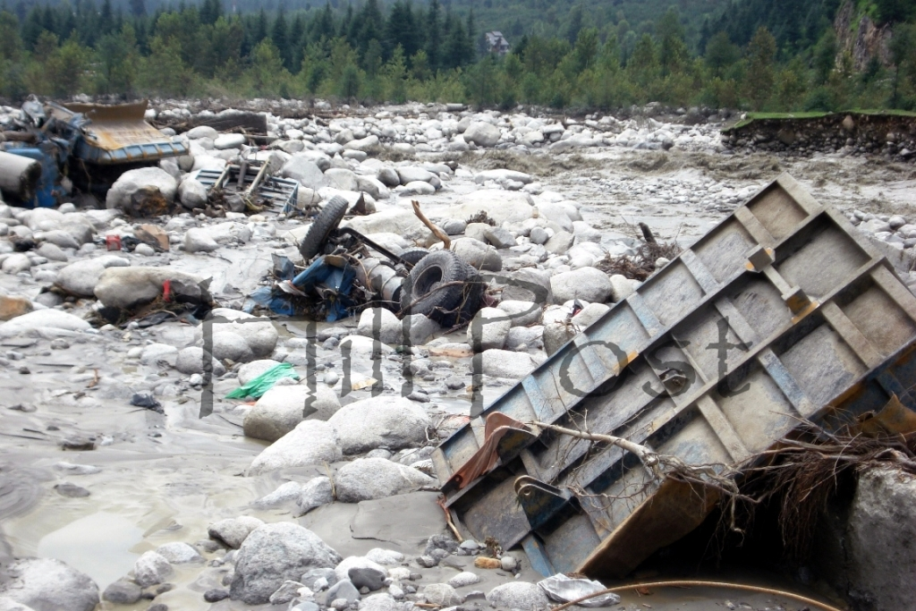 Manali Cloud Burst Property Damage