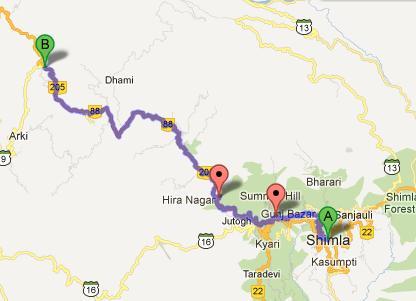 Shimla - Kangra Road NH88