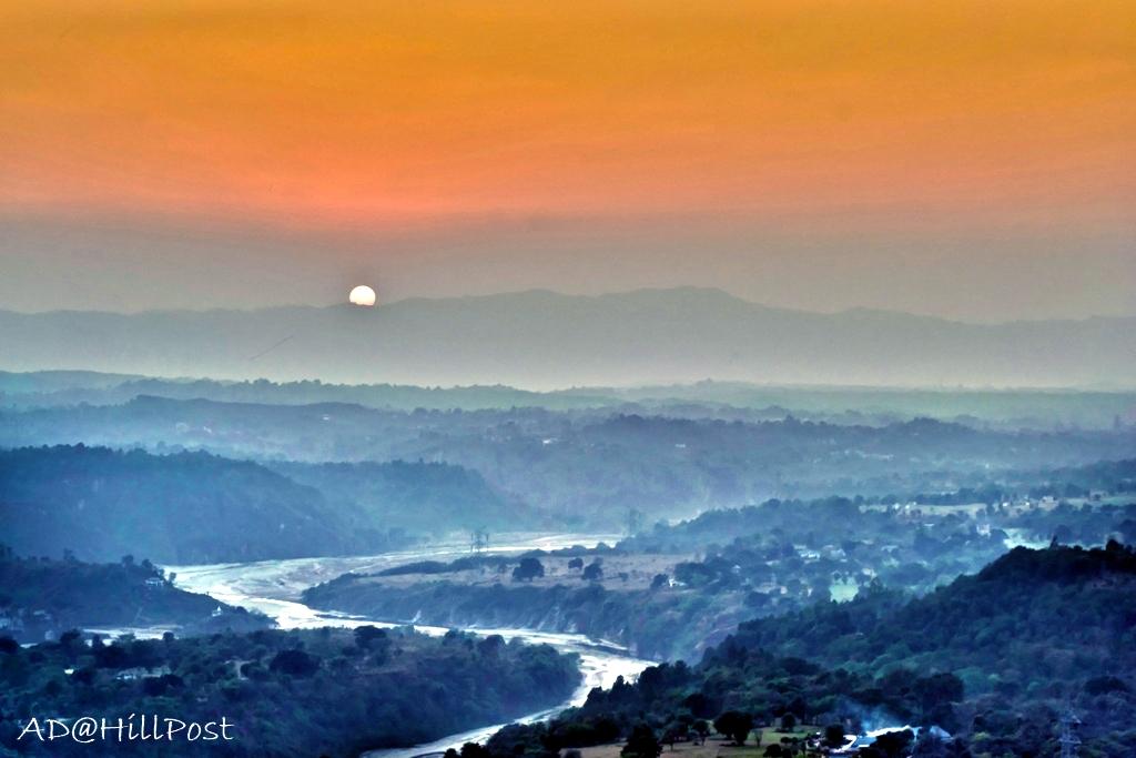 Beas view enroute Harsipattan a beautiful sunset