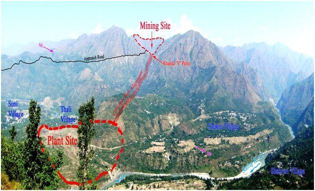 Alsindi cement plant site layout on landscape