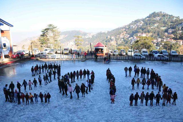 Ice skaters in Shimla