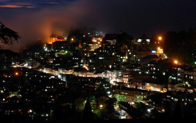 Night view of Shimla   Hill Post