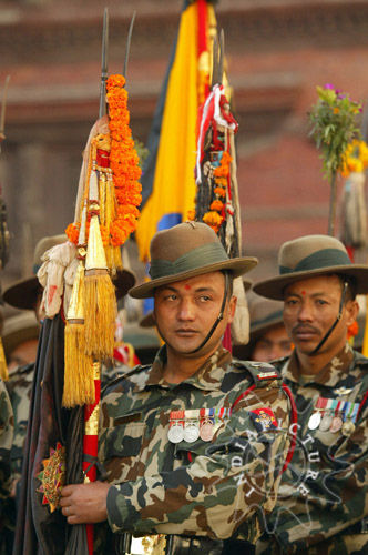 Royal Nepalese Army soldiers