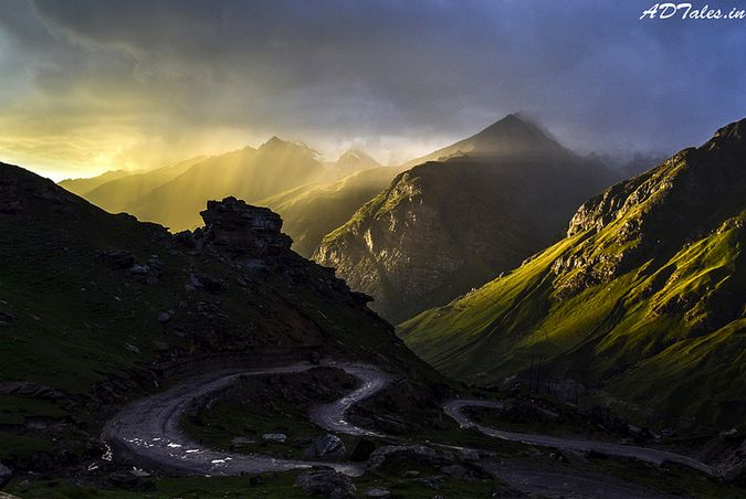 A beautiful Surreal sunset in Himalayas (Spiti Valley)