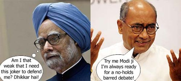 Dr Manmohan Singh takes up Narendra Modi's challenge on a face-to ...