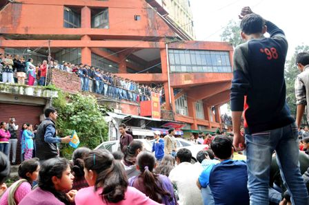 Students protest after clash at Himachal Unversity