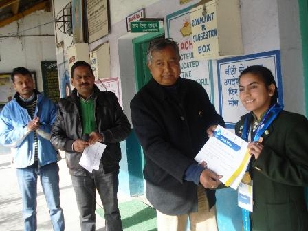 Jaya with her school principal