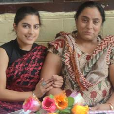 Jaya with mother Manjeet Kaur