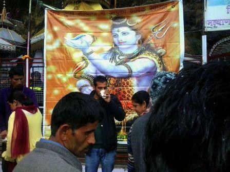 Ghotta being Served Outside Shiv Mandir, Malyana