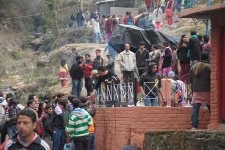 People wait in Queue for Ghotta