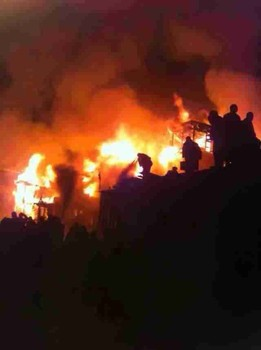 Serta Larung monastery campus in Tibet on fire: Photo Courtesy Phayul.com