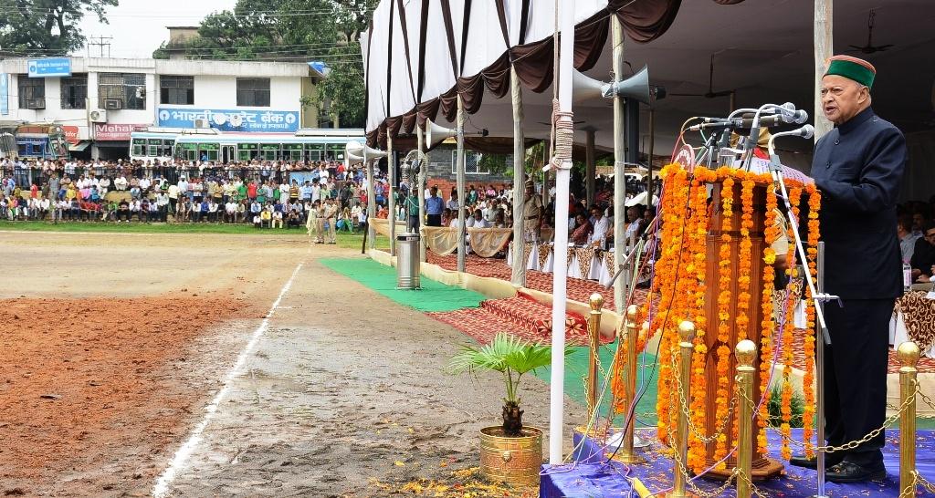 CM Addressing public gathering
