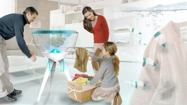Pecera washing machine with robotic fishes_1