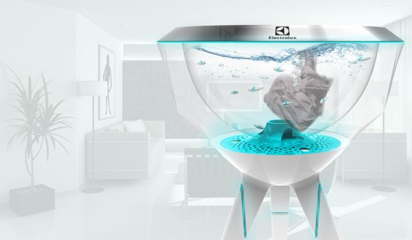 Pecera washing machine with robotic fishes_2