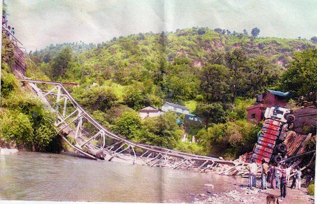 Sadhupul bridge collapes