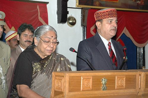C.M.Sharma taking oath as new Chairman HPPSC