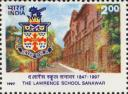 This postage stamp was issued by Govt. of India to commemorate 150 years of Sanawar