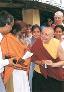 Swamiji & TP at his ashram - Bandara.jpg
