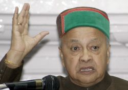File Photo of Chief Minister Virbhadra Singh addressing a media conference