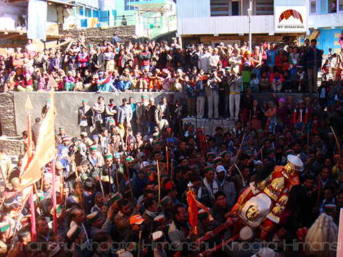 Devta at Shaand Mahayagya, Rohru, Himachal Pradesh