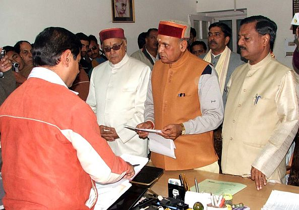 Dhumal Files Nominations Papers