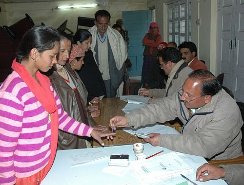 Himachal Election polling