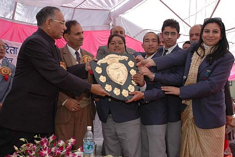 Kokje Giving Trophy to disable children on the occasion of World Disable Day