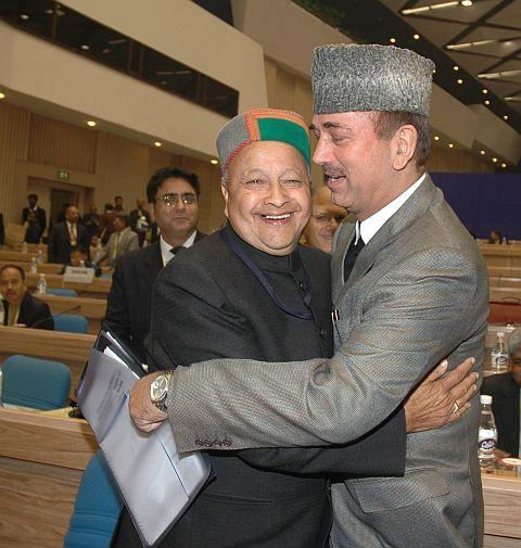 jammu and kashmir CM gulam  nabi azad  and Himachal CM virbhadara singh